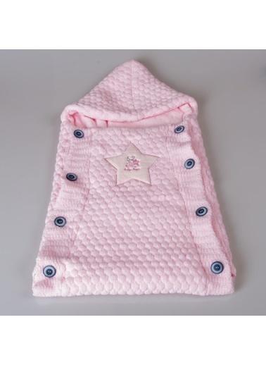 POKY POKY Kız Erkek Bebek Yıldız Kabartmalı Triko Soft Kundak Battaniye203053 Renkli Pembe